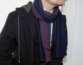 """Alcides""wool & cotton scarf"