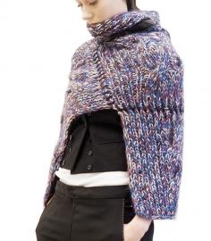 """Wabi-sabi VI"" hand knit poncho"