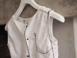 """Enyo"" sleeveless shirt"
