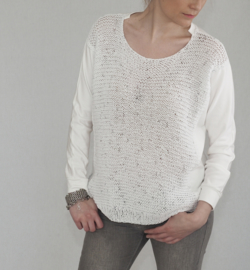 """Alkippe"" handknit mixed sweater"