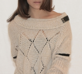 """Antandre"" hand knit long sweater / tunic"