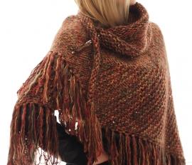 """""""Trian I"""" handknit shawl"""