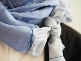 """""""Linum I"""" linen & cotton scarf"""