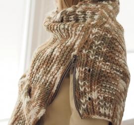"""Wabi-sabi I"" hand knit poncho"