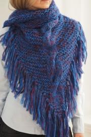 """""""Trian XXI"""" handknit shawl"""