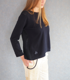 """""""Laios"""" handknit mixed sweater"""