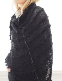 """""""Trian XX"""" handknit shawl"""