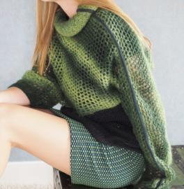 """Gaia"" handknit cowl sweater"