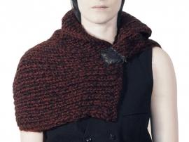 """Wabi-sabi Alkaia"" hand knit cowl"