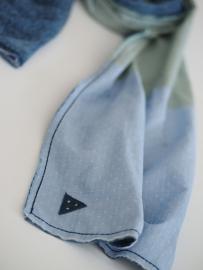 """""""Bombast I""""  double sided cotton scarf"""