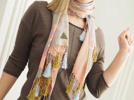 """""""Anthea I"""" printed pashmina scarf"""