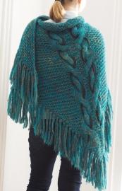 """""""Trian VI"""" handknit shawl"""