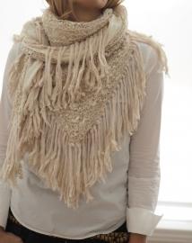 """""""Trian XIX"""" handknit shawl"""