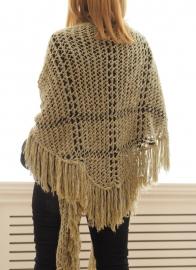 """Trian XV"" handknit shawl"