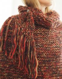 """""""Trian XXIV"""" handknit shawl"""