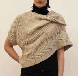 """""""Wabi-sabi IX"""" hand knit poncho"""