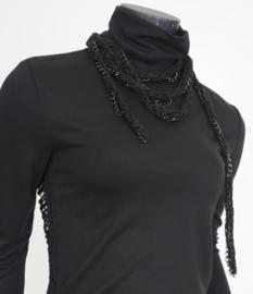 """Beorn"" handknit necklace & belt"
