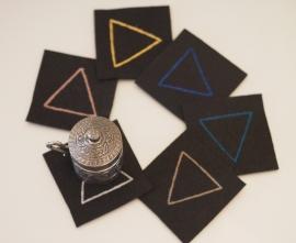 """""""Pythagoras"""" felt coasters"""