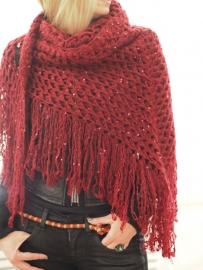 """Trian XVI"" hand crochet shawl"