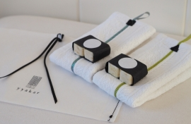 """Helena"" double guest towels gift set"