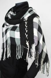 """Sinuhe"" tartan dessin scarf"