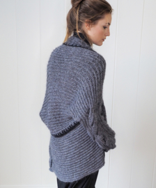 """ Valasca"" hand knit long cardigan"