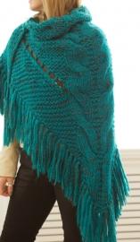 """""""Trian X"""" handknit shawl"""
