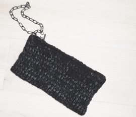 """Bushi"" handknit clutch bag"
