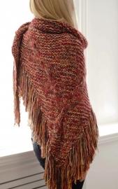 """""""Trian XIII"""" handknit shawl"""
