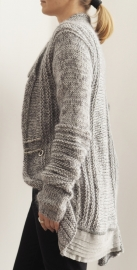 """Scyleia"" hand knit long cardigan"