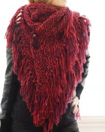 """""""Trian V"""" handknit shawl"""