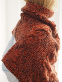 """Wabi-sabi IV"" hand knit poncho"