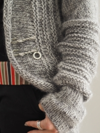 """Scyleia"" hand knit long cardigan"