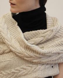 """Wabi-sabi XI"" hand knit cowl"
