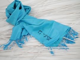 """Braille V"" pashmina scarf"