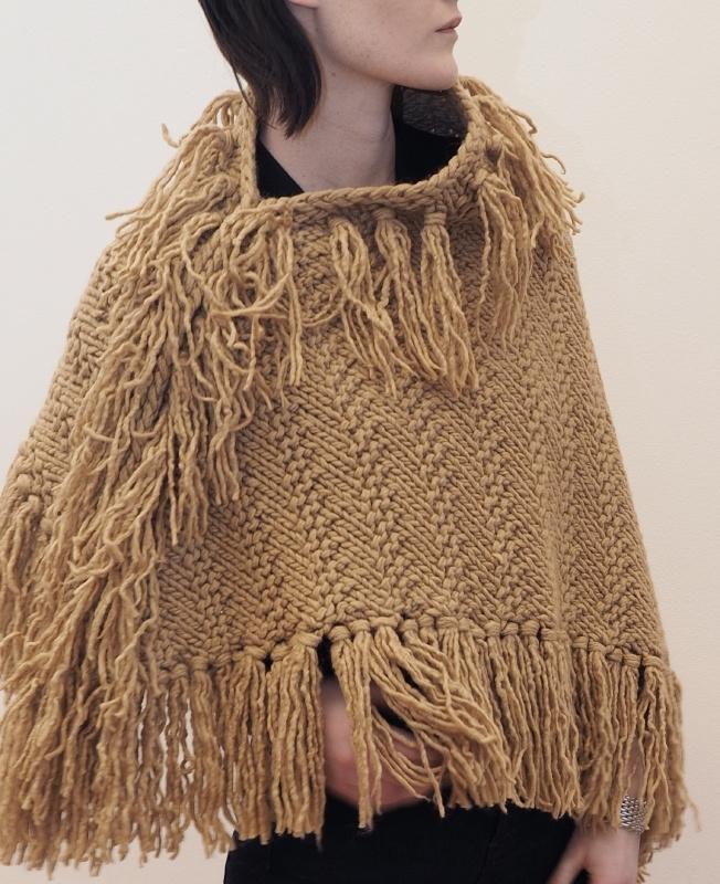"""Wabi-sabi VII"" hand knit poncho"