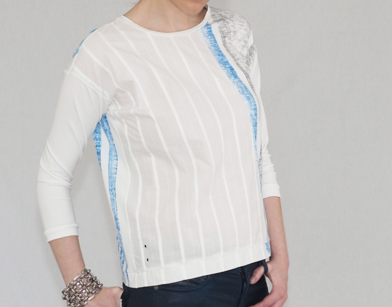 """Alvar"" 3/4 sleeve top"