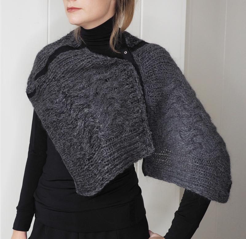 """Wabi-sabi XVI"" hand knit cowl"