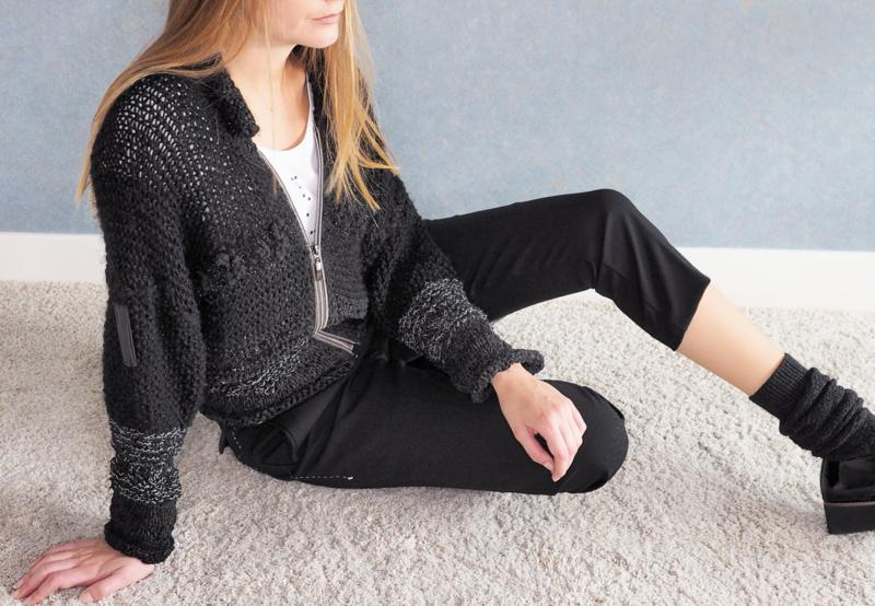 """ Eumache"" hand knit cardigan"