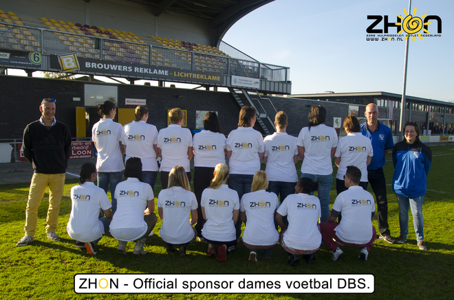 ZHON is per 1 November 2015 official sponsor van dames voetbal team DBS.