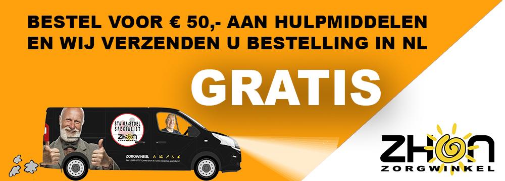 Gratis bezorgen vanaf 50 euro