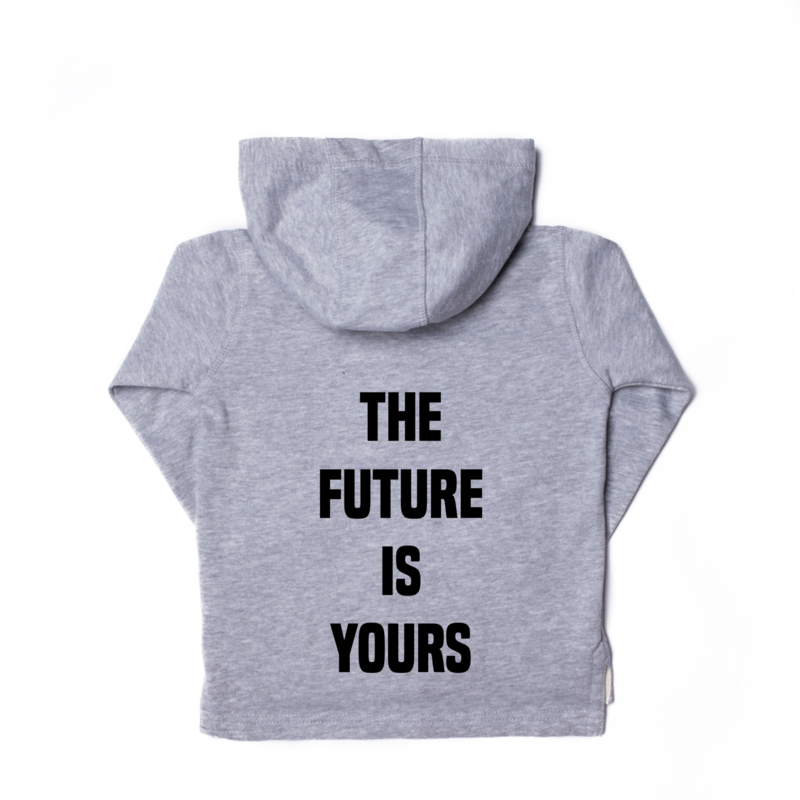 The future is yours vest grijs