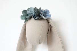Flower crown jeans Blue