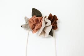 Bloemenkroon natuurtinten