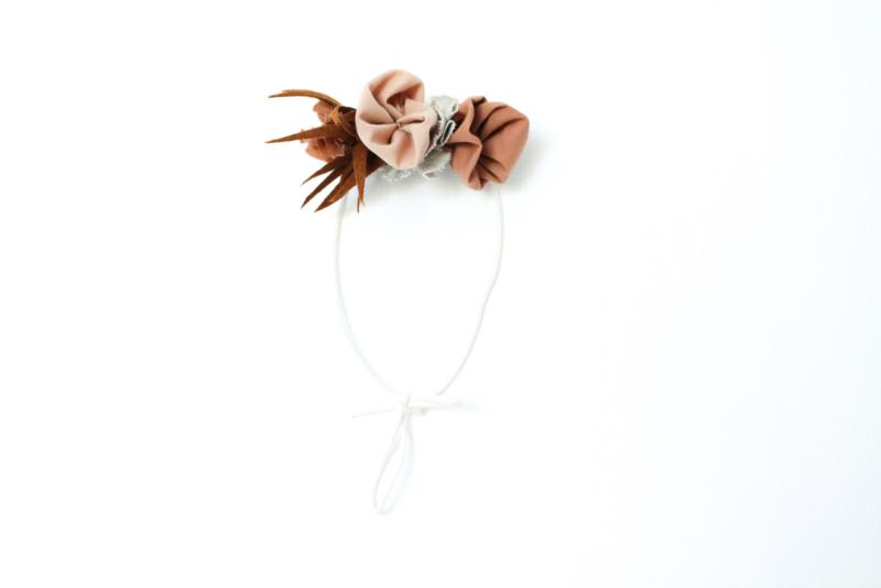 Flower crown earth tones