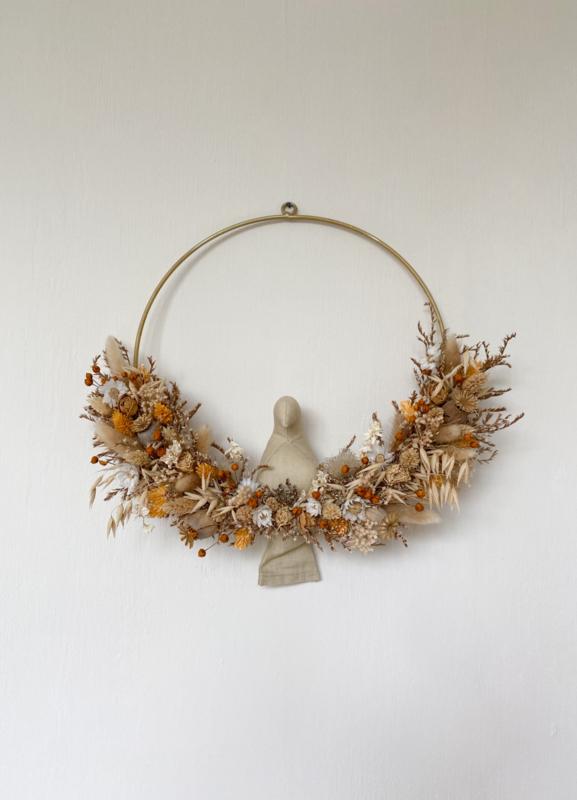 Dried floral wreath orange