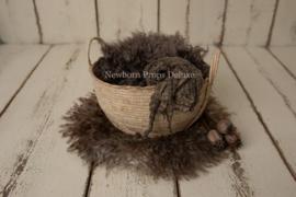 Mooie complete set met Naturel Basket (bruin)
