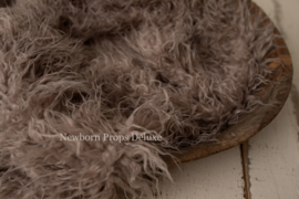 Luxe faux fur layer - Taupe (100 x 80cm) (NIEUW)