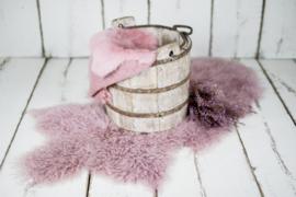 Mooie complete mauve/roze set met Farm Bucket beige