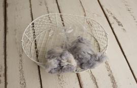Wol pakket soft grey met 2 verschillende kleur tonen wol vulling